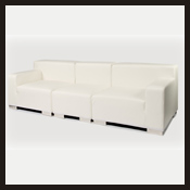 White Leather Module Couch
