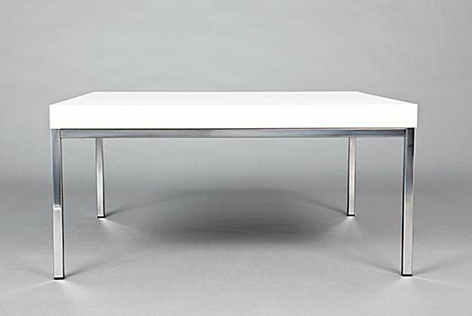 White/Chrome Side Table
